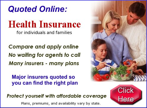 Don't pay more than you need to.  Online quotes and information for health indurance. No waiting for agents to call.  Compare and apply online.  Many carriers and many plans.  Major companies are included.  Find the right plan for you.  Plans, premiums, and availability vary by state.